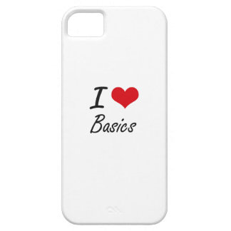I Love Basics Artistic Design Barely There iPhone 5 Case