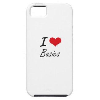 I Love Basics Artistic Design Tough iPhone 5 Case