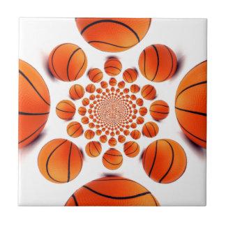 I love basketball small square tile