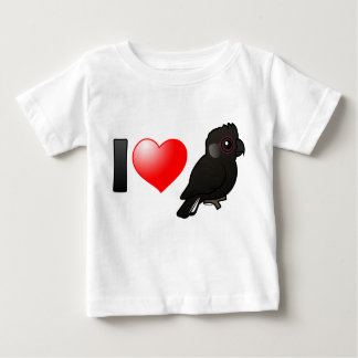 I Love Baudin's Cockatoos Baby T-Shirt