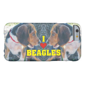I Love Beagles Beagle Puppies Barely There iPhone 6 Case
