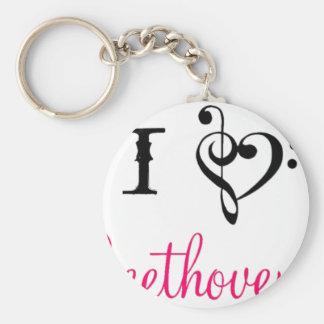 I love Beethoven Key Ring
