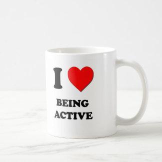 I Love Being Active Coffee Mug