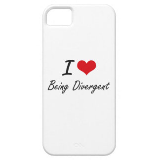 I Love Being Divergent Artistic Design iPhone 5 Case
