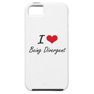 I Love Being Divergent Artistic Design Tough iPhone 5 Case