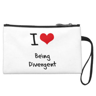 I Love Being Divergent Wristlet Purses