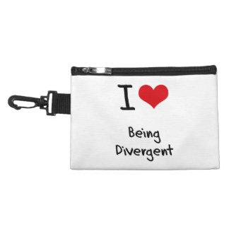 I Love Being Divergent Accessories Bag