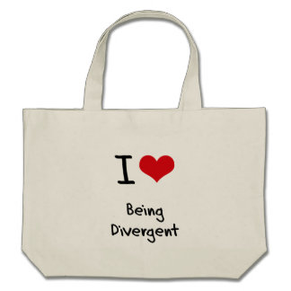 I Love Being Divergent Bags