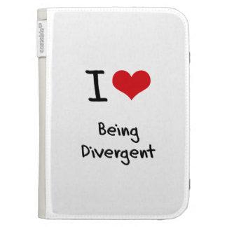 I Love Being Divergent Kindle Keyboard Cases