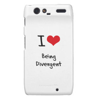 I Love Being Divergent Droid RAZR Cases