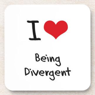 I Love Being Divergent Beverage Coasters