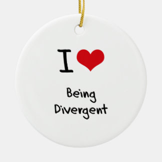 I Love Being Divergent Christmas Tree Ornament
