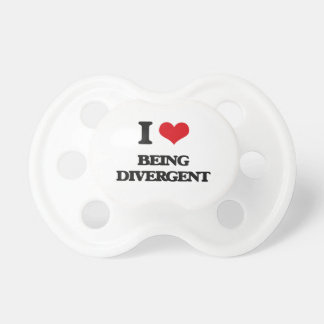 I Love Being Divergent BooginHead Pacifier