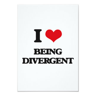 I Love Being Divergent Announcement Card