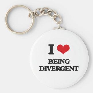 I Love Being Divergent Keychains