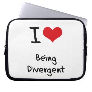 I Love Being Divergent Laptop Sleeve