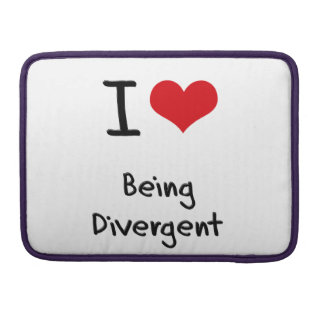 I Love Being Divergent Sleeves For MacBooks