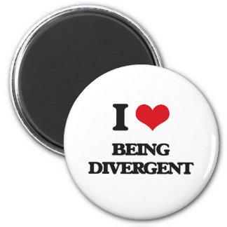 I Love Being Divergent Refrigerator Magnets