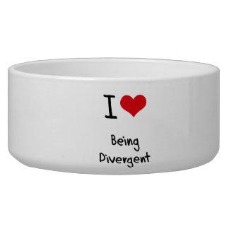I Love Being Divergent Dog Water Bowls