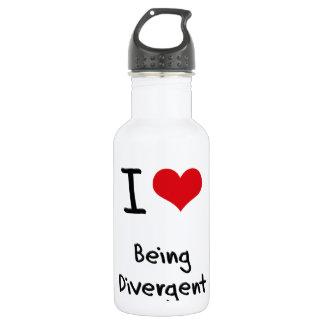 I Love Being Divergent 18oz Water Bottle