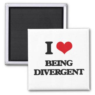 I Love Being Divergent Square Magnet
