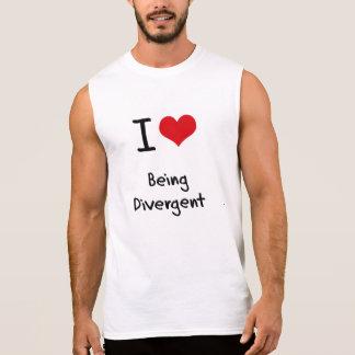 I Love Being Divergent Sleeveless Shirt