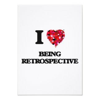 I Love Being Retrospective 13 Cm X 18 Cm Invitation Card