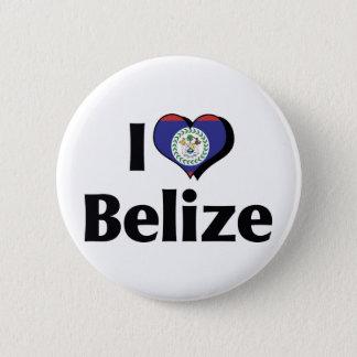 I Love Belize Flag 6 Cm Round Badge