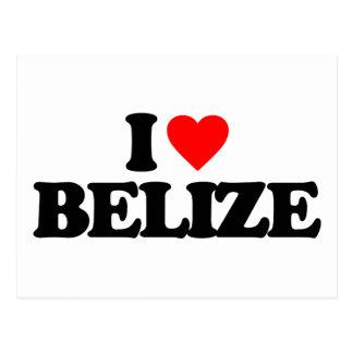 I LOVE BELIZE POST CARD