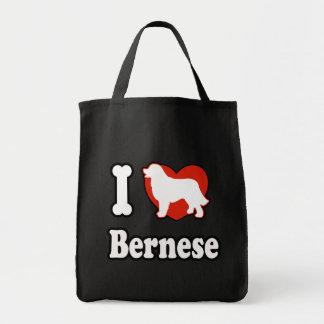 I love Bernese Mountain Tote Bag