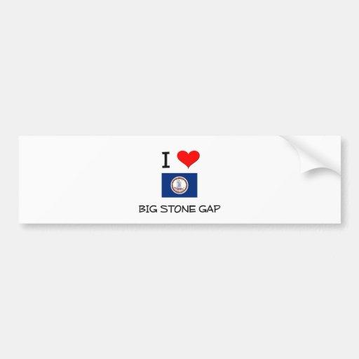 I Love Big Stone Gap Virginia Bumper Stickers