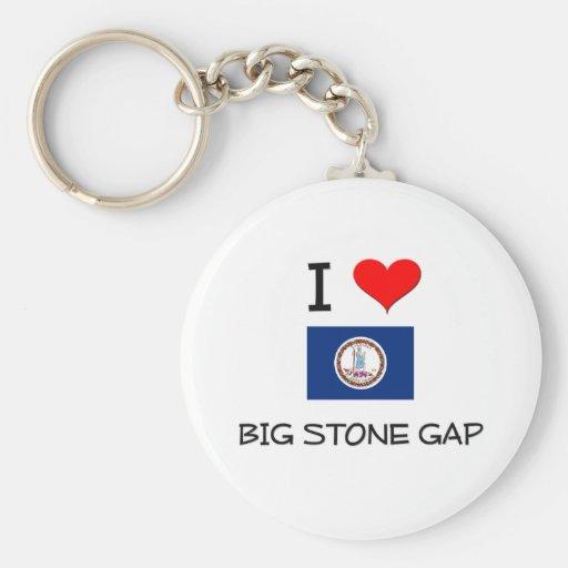 I Love Big Stone Gap Virginia Keychain