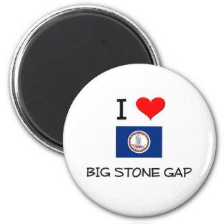I Love Big Stone Gap Virginia Refrigerator Magnet