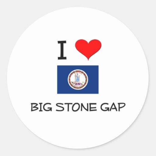 I Love Big Stone Gap Virginia Stickers