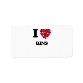I Love Bins Address Label