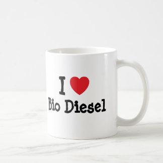 I love Bio Diesel heart custom personalized Basic White Mug