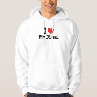 I love Bio Diesel heart custom personalized Hooded Pullover