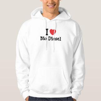I love Bio Diesel heart custom personalized Hooded Pullover