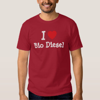 I love Bio Diesel heart custom personalized T-shirt