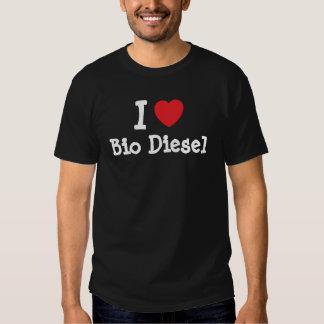 I love Bio Diesel heart custom personalized T Shirts