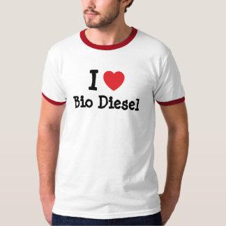 I love Bio Diesel heart custom personalized Tee Shirt