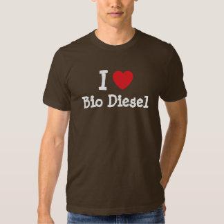 I love Bio Diesel heart custom personalized Tee Shirts