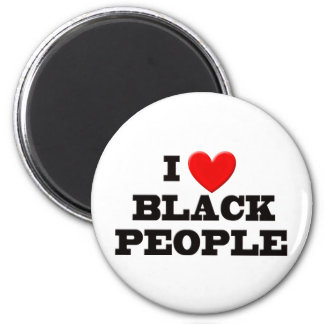 I Love Black People 6 Cm Round Magnet
