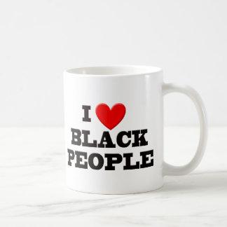 I Love Black People Basic White Mug