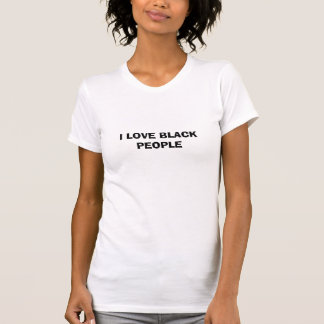 I LOVE BLACK PEOPLE TANK TOPS