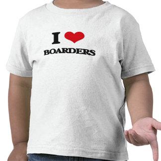I Love Boarders Tee Shirts