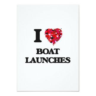 I Love Boat Launches 13 Cm X 18 Cm Invitation Card