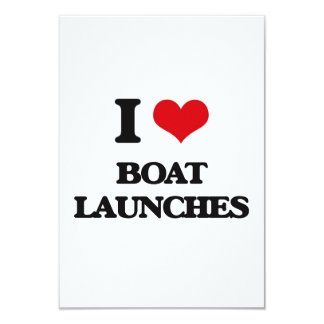 I Love Boat Launches Personalized Invitation Cards