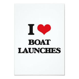 """I Love Boat Launches 3.5"""" X 5"""" Invitation Card"""
