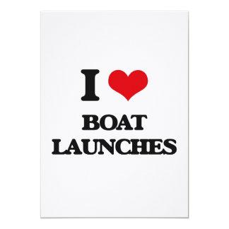 """I Love Boat Launches 5"""" X 7"""" Invitation Card"""